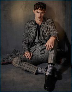 Top model Kit Butler takes the cover story of The Financial Times - How To Spend It's October 2016 Menswear Special issue captured and styled by Damian Foxe