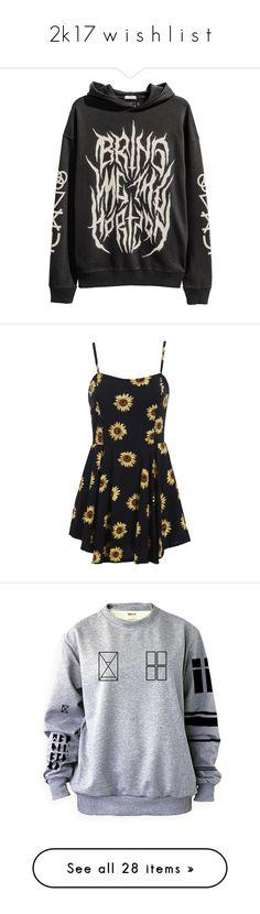 """2k17 w i s h l i s t"" by xxghostlygracexx ❤ liked on Polyvore featuring tops, shirt top, dresses, vestidos, short dresses, black, long-sleeve floral dresses, floral chiffon dress, sleeveless shift dress and floral cocktail dresses"