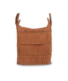 Minnetonka - Cross Body Fringe Bag - Brown Suede