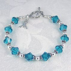 Ovarian Cancer Bracelet $65 Love this, My Mom is a survivor