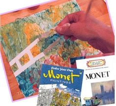 Create a gorgeous water scene art project inspired by Monet with fingerpaint! Here is a simple 10 step tutorial with pictures - Teach Junkie