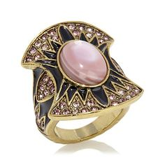 "Heidi Daus ""Goddess of Glamour"" Enamel and Crystal Ring"