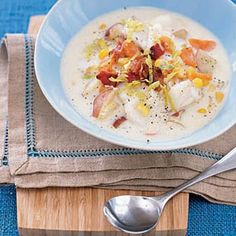 Bring the taste of New England to your kitchen with this fish and veggie chowder #recipe. #dinner