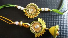 Latest Rakhi Images 2018 For Brother 11 Paper Quilling Jewelry, Quilling Earrings, Quilling Art, Quilling Rakhi, Rakhi Images, Handmade Rakhi Designs, Rakhi Making, Quilled Roses, Bottle Crafts