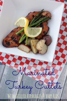 Marinated Turkey Cutlets With Potatoes & Asparagus Recipe. The perfect grilling recipe for Memorial Day that is lean and better for you! #700ReasonsForSummer #IC ad