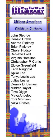 African American children's book authors. Try reading a book written by each author!