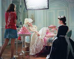 Sofia Coppola and Kirsten Dunst on the set of 'Marie Antoinette', Château de Pontchartrain, France, 2005