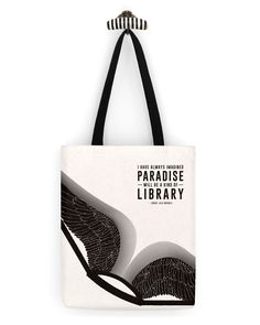 """Book"" Borges Literary Tote Bag by Obvious State 