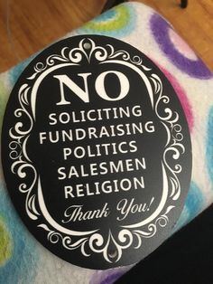 """Amazon.com: No Soliciting Sign for Home and Business 