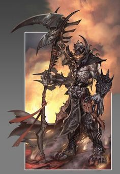 Creature Spot - The Spot for Creature Art, Artists and Fans Fantasy Warrior, Fantasy Rpg, Dark Fantasy, Fantasy Beasts, Character Concept, Concept Art, Character Design, The Black Cauldron, Angels And Demons
