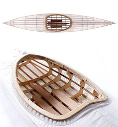 O Six Hundred Kayak - Based on the 4 thousand-year old Inuit kayak design, the O Six Hundred kayak is a self-build 30-piece kit made with CNC-cut pine marine ply & cedar that all snaps together. The 13-foot hull is covered in a tough translucent carbon fabric that you stretch over it. Weight: a mere 22 pounds. $1500