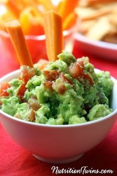 Skinny Guacamole | Rich & Creamy | Healthy Snack, pair with veggie crudite | Only 59 Calories | For MORE RECIPES, fitness & nutrition tips please SIGN UP for our FREE NEWSLETTER www.NutritionTwins.com