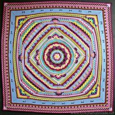 Sophie's Universe CAL 2015 Lookatwhatimade.net Crochet Mandala, Manta Crochet, Crochet Quilt, Crochet Stitches Patterns, Crochet Home, Crochet Squares, Crochet Granny, Crochet Motif, Crochet Yarn