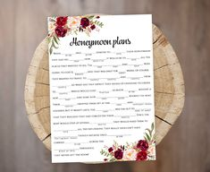 Floral Mad Lib Bridal Shower Tea party game The Proposal story guest libs activity card PDF JPEG Ins Printable Bridal Shower Games, Wedding Shower Games, Tea Party Bridal Shower, Wedding Games, Marsala, Mad Libs Game, Tea Party Games, Wedding Mad Libs, Disney Love Quotes
