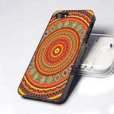 mandala aztec pattern iphone 4/4s Case