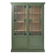 Green Solid Acacia and Textured Glass Display Case Magdalena on Maisons du Monde. Take your pick from our furniture and accessories and be inspired! Acacia, Dream Furniture, Find Furniture, Dresser Storage, Tall Cabinet Storage, Granite, Frosted Glass Door, Glass Display Case, Kitchen Dresser
