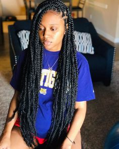 Top 60 All the Rage Looks with Long Box Braids - Hairstyles Trends Box Braids Hairstyles, Marley Twist Hairstyles, Braided Hairstyles For Black Women, My Hairstyle, Girl Hairstyles, Wedding Hairstyles, Hairstyles Pictures, American Hairstyles, Hairstyles 2018