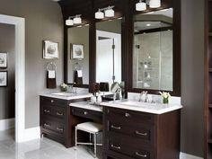 Master Bathroom Vanity bathroom vanity with makeup counter | granite bathroom vanity