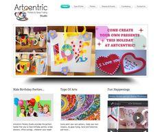 Art Studio Website Types Of Art, Create Your Own, Birthday Parties, Web Design, Presents, Pottery, Website, Studio, Holiday