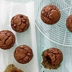Double Chocolate-Mocha Muffins Recipe | MyRecipes.com