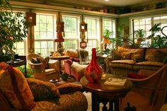 Sitting area at Butterfly Creek Inn, Tryon NC Experience the Butterfly Effect - www.butterflycreekinntryon.com