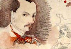 Charles Baudelaire - Autorretrato inédito de Baudelaire. Encontrado en 2013 por Caroline Lenfant, conservadora del museo de arquitectura Cité de l'Architecture de París.