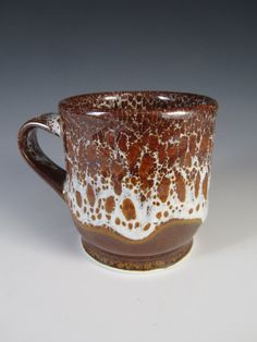 Oil Spot  Cup 021 by johnbrittpottery on Etsy,