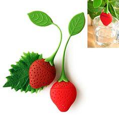 Tea Infuser Filter Diffuser Silicone Strawberry Red Leaf Strainer Herbal Spice ** For more information, visit image link.