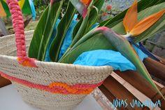Cesta de playa transformada www.facebook.com/joiasjanaina