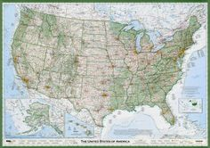 Imus map of the United States of America. The iconic map.
