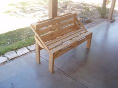 A Pallet Bench