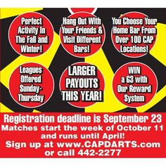 Check out all that's in store for our 10th year of running #dart #leagues  Sign up today @ CAPDARTS.com