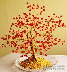 Wire and bead tree, great use of color