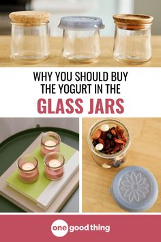 French-style yogurt is everywhere lately, and I'm obsessed with those cute jars they come in! Learn 13 useful ways to reuse those glass yogurt jars at home.