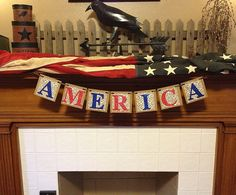 July 4th Decorations July 4th Patriotic Banner AMERICA banner Photo prop Independence Day garland sign