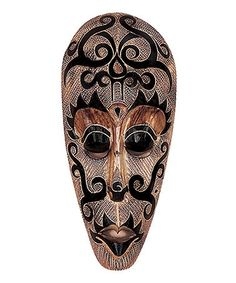 Take a look at this African Spiral Mask Wall Art by UMA Enterprises on #zulily today!