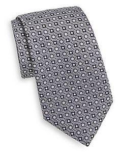 505cefd21987 Saks Fifth Avenue Jacquard Dot Silk Tie - Magenta - Size No Size Saks Fifth  Avenue