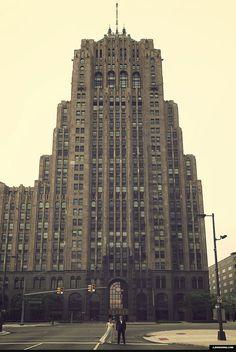底特律新中心的婚纱费希尔大厦