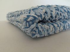 Knitted Baby Blanket  Blue Twist by PolkaDotKreations on Etsy, $40.00