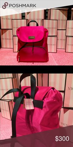 Victoria's Secret Mini Backpack Beyond Rare !! Not sold on Any Victoria's Secret Stores. First Line of High Quality Designer Bags Launch earlier this year at a High end Victoria's Secret Store Testing  But was Taken out NWT, Everyday Backpack Tropical Rose. Stand out be the only one to have it 💝💝💝💝💝. Not Available nowhere 💝💝Available in Black as Well Victoria's Secret Other