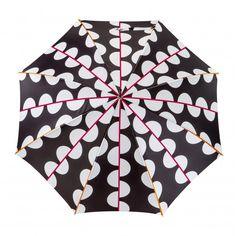 Un parapluie graphique avec ses moitiés de pois reliées par des lignes colorées.  Un motif original pour affronter les averses d'été. Zulu Language, Chart, Pattern, Modern
