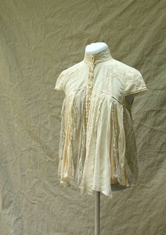 Shabby Chic Tattered Fairy Woodland Boho Blouse - Upcycled Clothing