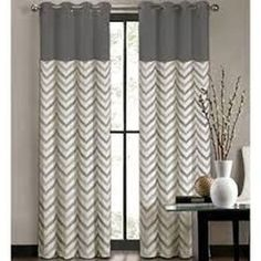 Colordrift Tribal Stripe Grommet-Top Curtain Panel - jcpenney I could easily make these for my bed room Chevron Curtains, Modern Curtains, Drapes Curtains, Printed Curtains, Pattern Curtains, Blue Drapes, Curtains Living, Bedroom Curtains, Window Coverings