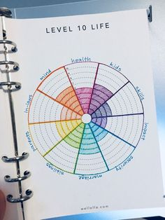 """The Level 10 Life concept comes from Hal Elrod's book, """"The Miracle Morning."""" It's a great book about taking control of your success in life through personal development, and I highly recommend reading it. Drawing on this concept, I've created a template you can use to easily make your ow... #bulletjournal #planners #bujo #journaling"""