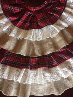 Flannel Burlap Lace Country Tree Skirt By FordCountry On Etsy