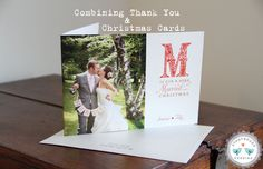 Combining Wedding Thank You Cards and Christmas Cards, Do You Dare?! http://www.storyboardwedding.com/combining-thank-yous-holiday-cards-part-2/