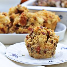 Cornbread Stuffing Muffins with Apple and Pancetta. These little stuffing muffins are perfectly portions and so flavorful. Crusty edges and moist centers Thanksgiving Stuffing, Thanksgiving Side Dishes, Thanksgiving Recipes, Fall Recipes, Holiday Recipes, Great Recipes, Favorite Recipes, Thanksgiving Feast, Holiday Meals