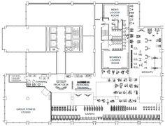 locker room floor plan showing circulation and adjacent areas image rh pinterest com Floor Plans of Locker Rooms Gyms Gym Floor Plan Locker Room Changing