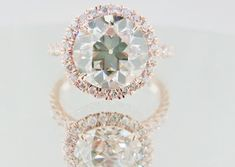 A rose gold engagement ring? Yes, please. #rosegold #rings