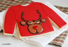 Ugly Sweater Christmas Cookies for my ugly Christmas sweater party